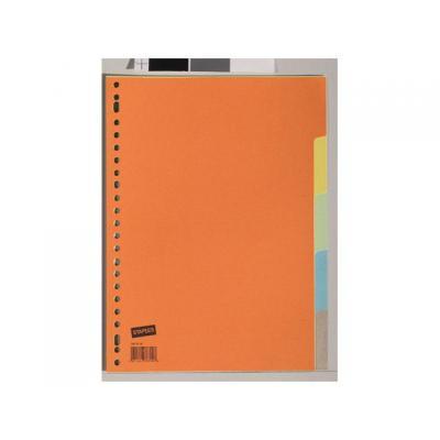 Staples schutkaart: Tabblad SPLS A4 23r kleuren karton/set 5