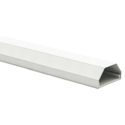 Schwaiger cable-trunking system: Aluminium Cable Raceway with slanted edges and click system, 1.1m, White