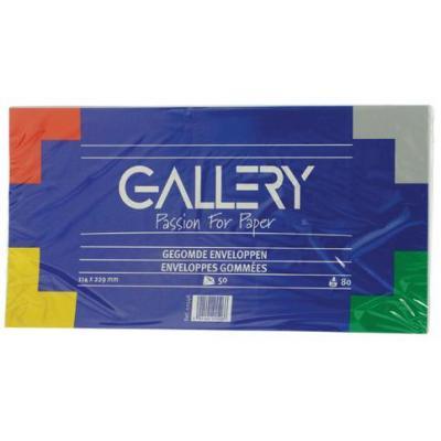 Gallery envelop: Ft 114 x 229 mm, 50 stuks - Wit
