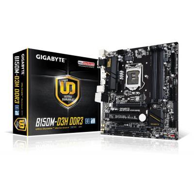 Gigabyte moederbord: LGA1151, Intel B150 Express, non-ECC, 4 x DDR3 1866/1600/1333 MHz, Intel HD Graphics, 1 x PCI .....