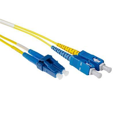 Ewent 2 meter LSZH Singlemode 9/125 OS2 short boot glasvezel patchkabel duplex met LC en SC connectoren Fiber .....