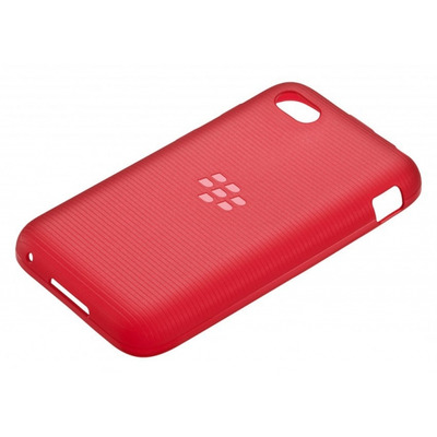 BlackBerry Q5 Soft Shell - Pure Red Translucent Mobile phone case - Rood