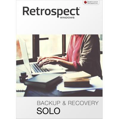 Retrospect backup software: (v15), Solo, license, 1 application, download, Win