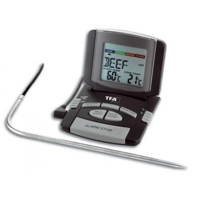 Tfa voedsel thermometer: 0 - 100 °C, 124 g, 1x 1.5 V AAA - Zwart, Grijs