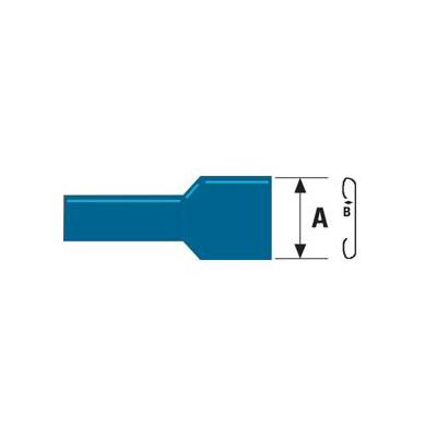 Valueline Female Disconnect, PVC, Blue kabel connector - Blauw