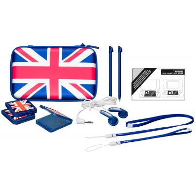Bigben interactive spel accessoire: Nintendo New 2DS XL accessoirepakket voor N2DS XL en N3DS XL - Britse vlag