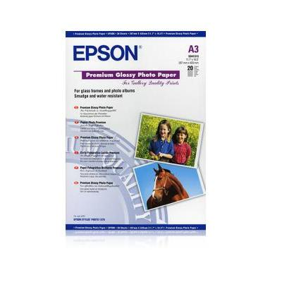 Epson fotopapier: Premium Glossy Photo Paper, DIN A3, 255g/m², 20 Vel - Wit