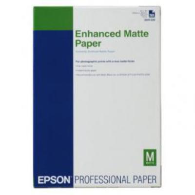 Epson Enhanced Matte Paper, DIN A3+, 192g/m², 100 Vel Grootformaat media