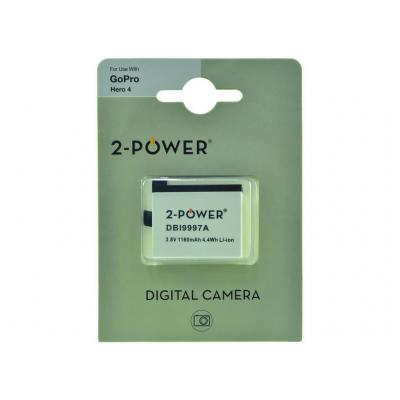 2-power batterij: Digital Camera, Lithium ion, 3.8 V, 1160 mAh, 26 g, Rectangular - Wit