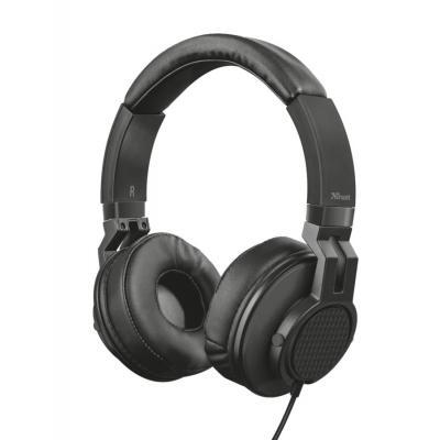 Trust headset: 6.35mm, 105dB, 50mm, 20 - 20000Hz, 32Ohm, Black - Zwart