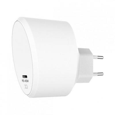 Xqisit Travel Charger 45W USB C (PD) USB C Cable 180cm EU (white) Oplader - Wit