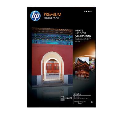 HP Premium Gloss 25 sht/A3+/330 x 483 mm (13 x 19 in) Fotopapier - Wit