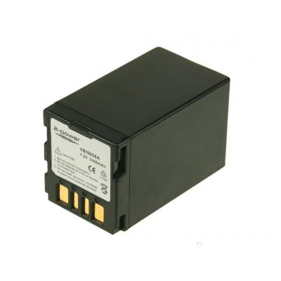 2-power batterij: Camcorder Battery, Li-Ion, 7.2V, 3300mAh, 157g, Black - Zwart