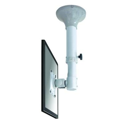 "Newstar flat panel plafond steun: De FPMA-C025SILVER is een plafondsteun voor flat screens t/m 30"" (76 cm) - Zilver"