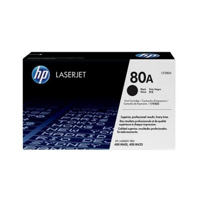 Hp toner: 80A zwart voor o.a. Laserjet Pro 400 M401 & M425