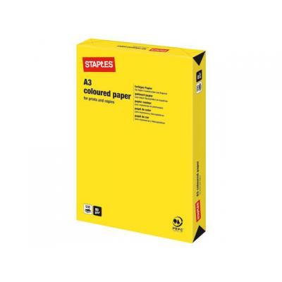 Staples papier: Papier SPLS A3 80g felgeel/pak 500v