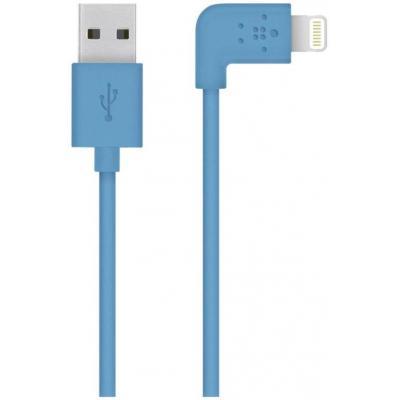 Belkin USB kabel: Flat Lightning - Blauw