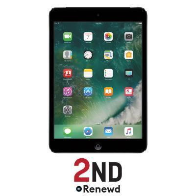 2nd by renewd tablet: Apple iPad Mini 2 Wifi + 4G refurbished door 2ND - 16GB Spacegrijs - Zwart
