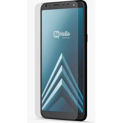 BeHello Samsung Galaxy A6+, Glass Screen protector - Transparant
