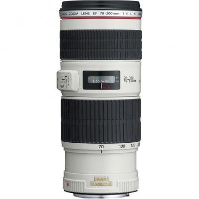Canon camera lens: EF 70-200mm f/4L IS USM - Wit