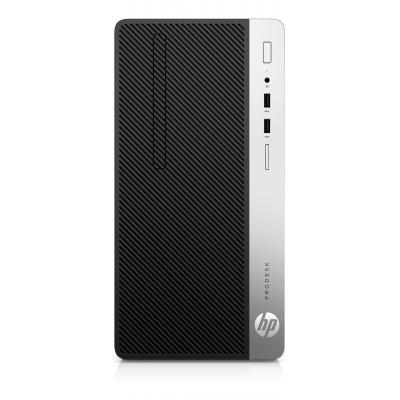 HP ProDesk 400 G5 MT i3 8GB RAM 256GB SSD Pc - Zwart, Zilver