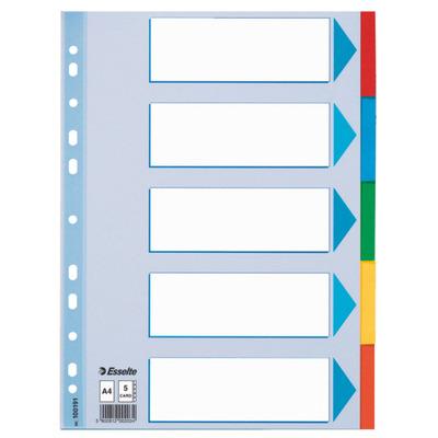 Esselte 5-Tabs Karton, 11gaats, A4 Indextab