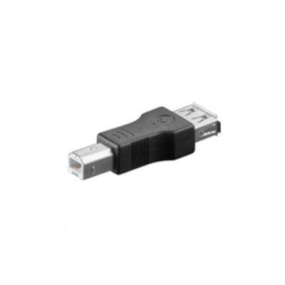 Microconnect USB A/USB B M-F Kabel adapter - Zwart
