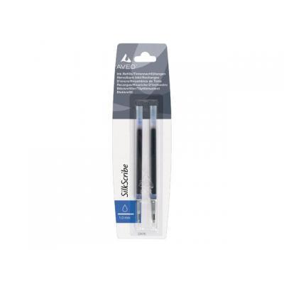Staples inktvulling: Vulling balpen SPLS Aveo 1,0 blauw/pak 2