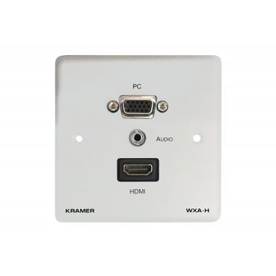 Kramer Electronics Passive Wall Plate, 15–pin HD (F), HDMI (F), 3.5mm (F), White Wandcontactdoos - .....