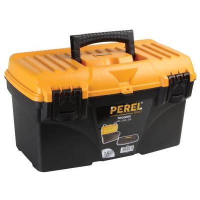 """Perel : 45.72 cm (18 """") Gereedschapskoffer - Zwart, Oranje"""