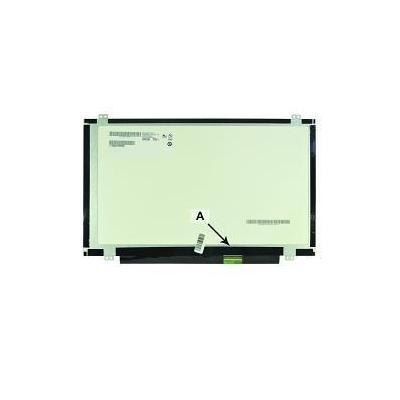 "2-power notebook reserve-onderdeel: 35.56 cm (14.0 "") WXGA HD 1366x768 LED Glossy - Zwart"