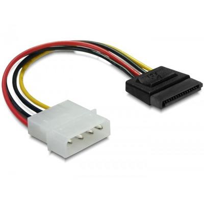 DeLOCK 15pin SATA > 4pin straight Cable - Multi kleuren