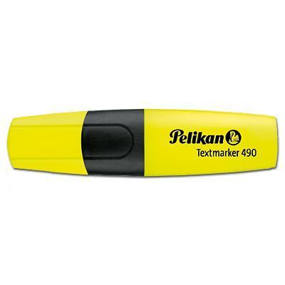 Pelikan markeerstift: Textmarker 490 fluor.yellow - Zwart, Geel
