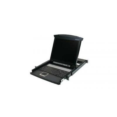 "Iogear rack console: 43.18 cm (17 "") LCD Combo Console - Zwart"