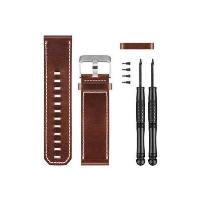 Garmin horloge-band: Brown Leather Watch Band - Bruin