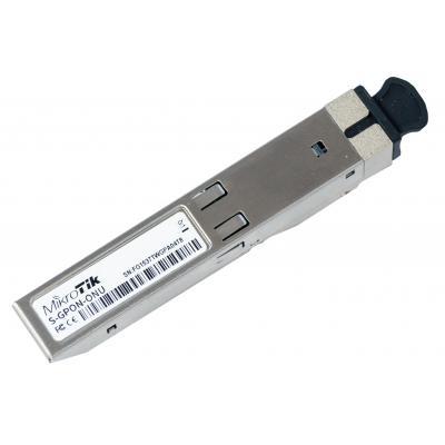 Mikrotik SFP, SC, 2488 Mb/s, Aluminium/Black Netwerk tranceiver module - Aluminium,Zwart