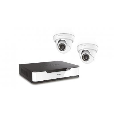 "D-link video toezicht kit: 16-ch. PoE recorder, up to 16TB SATA 3.5"" HDD, 128MB Flash, 1GB DDR3, Gigabit Ethernet, ....."