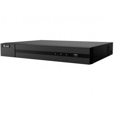HiLook 16-ch, up to 8 MP, HDMI/VGA, RJ-45, 2x USB, RCA, 1U chassis, 280W - Zwart