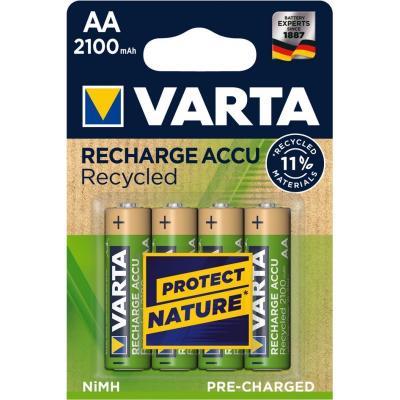 Varta Recycled AA 2100mAh batterij - Goud, Groen