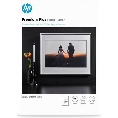HP Premium Plus glanzend, 20 vel, A3/297 x 420 mm Fotopapier