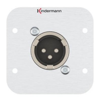 Kindermann 7441000416 Wandcontactdoos - Aluminium