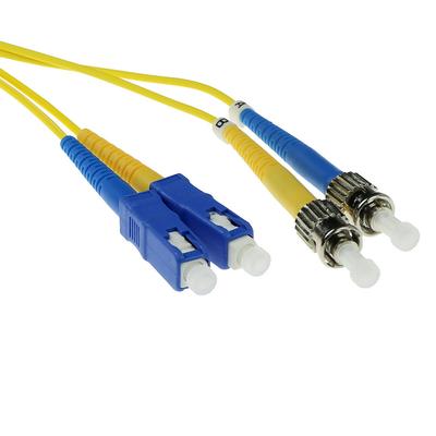 ACT SC-ST 9/125um duplex 3.00m (RL2903) 3m Fiber optic kabel - Geel