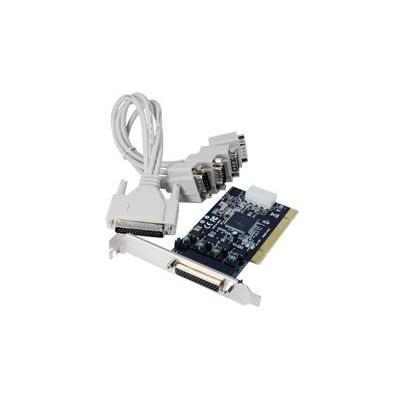 Longshine PCI 3.0 Multi I/O Card Powered, 4 x RS-232 Interfaceadapter - Zwart,Grijs