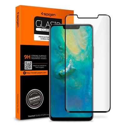 Spigen GLAS.tR Curved Screen protector - Zwart,Transparant