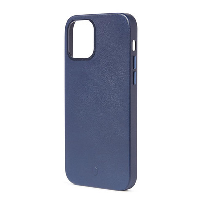 Decoded Back Cover Navy - iPhone 12 Mini Magsafe, ECCO leather/TPU Mobile phone case - Marineblauw