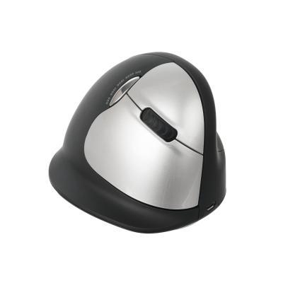 R-Go Tools computermuis: HE Mouse Wireless - Large - Rechtshandig - Zwart, Zilver
