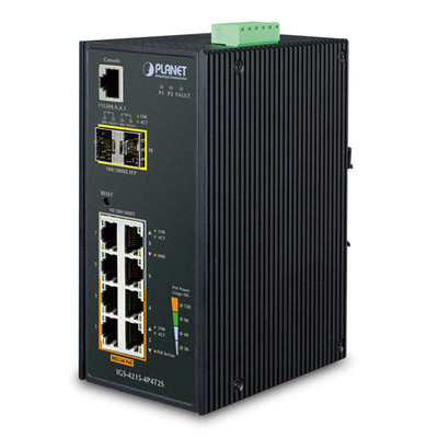 Planet IGS-4215-4P4T2S Switch - Zwart