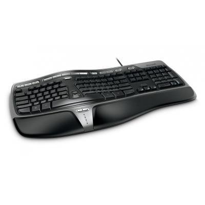 Microsoft toetsenbord: Natural Ergonomic Keyboard 4000 - Zwart, Zilver, AZERTY