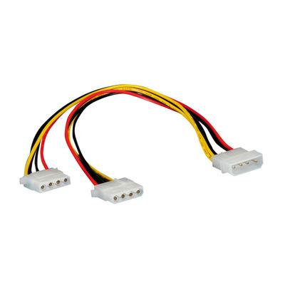 ROLINE Y-kabel 4 pol. HDD / 2 x 4 pol. HDD - Zwart, Rood, Wit, Geel