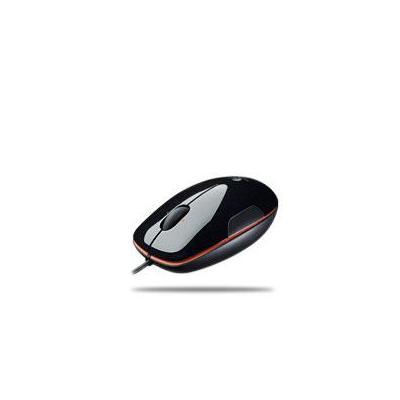 Logitech computermuis: LS1 Laser Mouse (Grape-Jaffa Flash) - Zwart